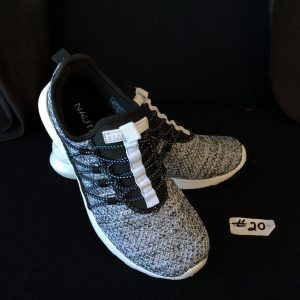 Women's Nautica athletic shoe, black and white, Size 7.5