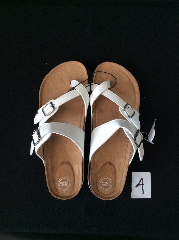 Women's White Sandal (New) Size 6