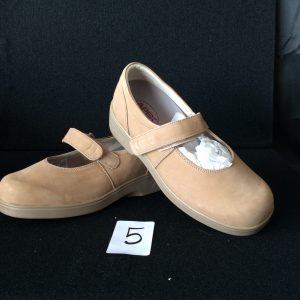 Women's Beige Shoe with velcro strp (new), Size 9 wide