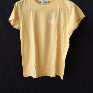 Women's yellow t-shirt, size medium