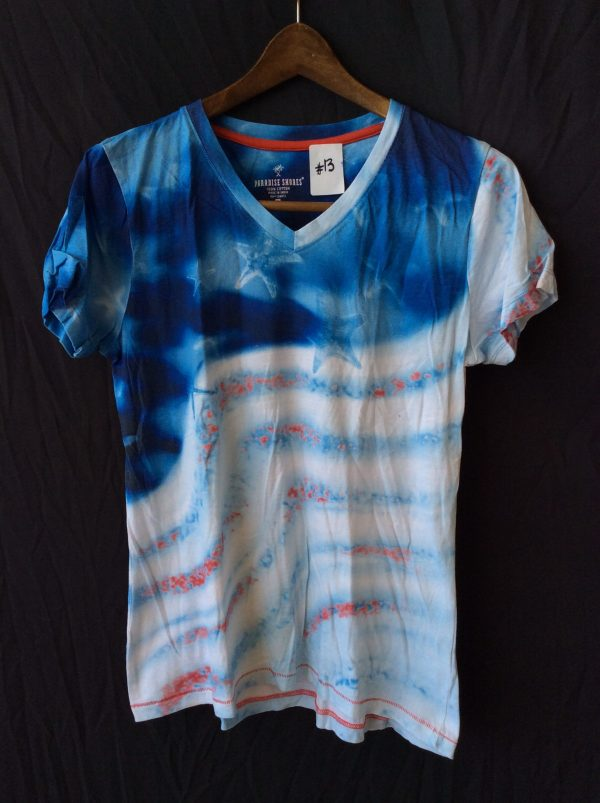 Women's v-neck t-shirt sea theme, size medium