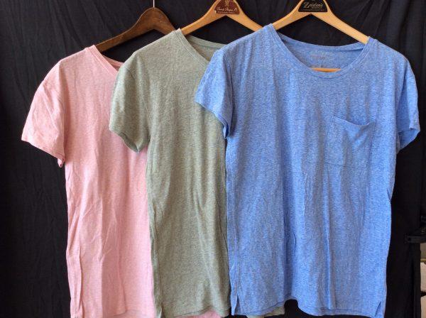 Women's 3 pack t-shirts (blue, green, pink), size medium