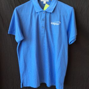 Women's (2 pack) polo (one blue, one white), size large