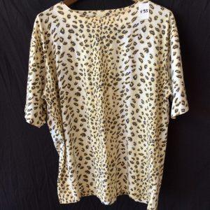 Women's animal print top, size xl