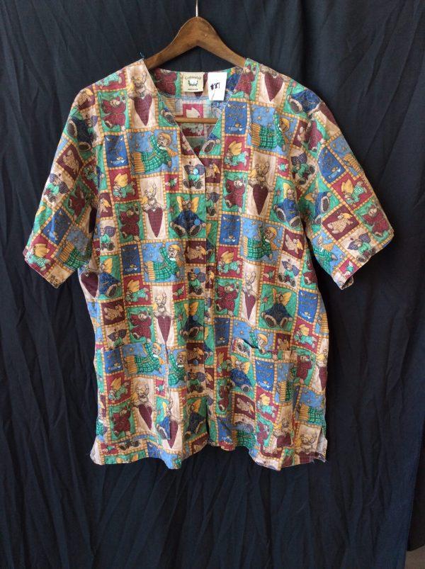 Women's scrub top, size xl