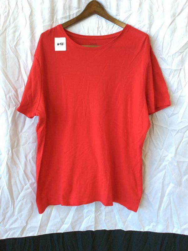 Women's red t-shirt, size xxl