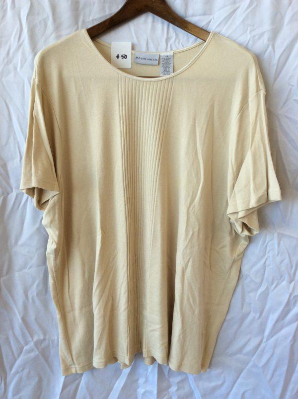 Women's tan t-shirt, size xxl