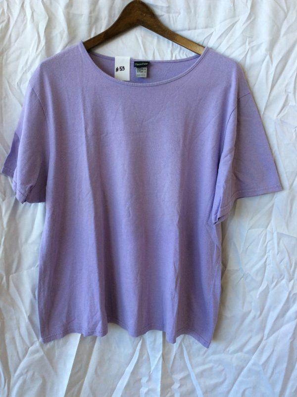 Women's purple t-shirt, size xxl