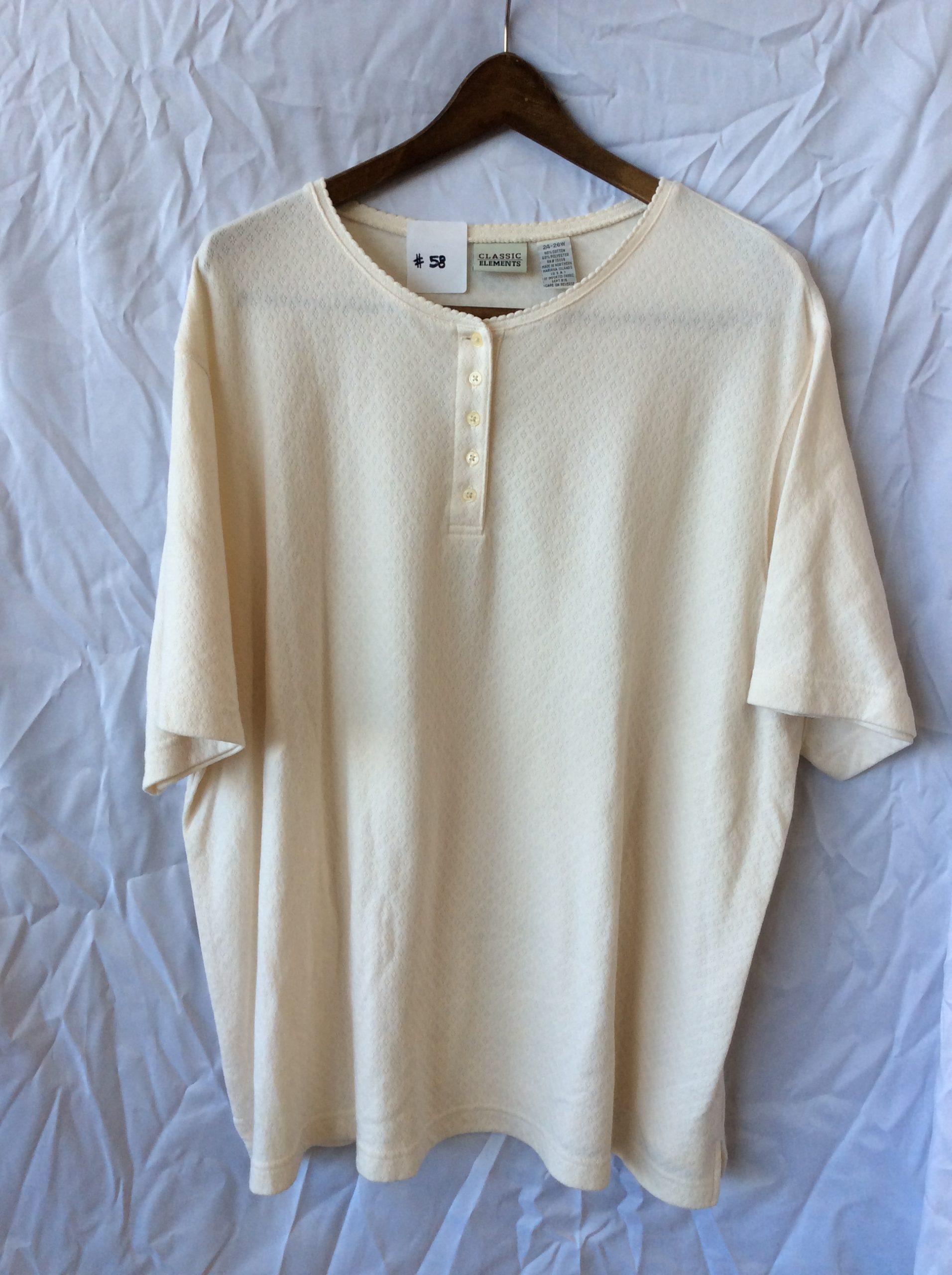 Women's button t-shirt, size 24-66