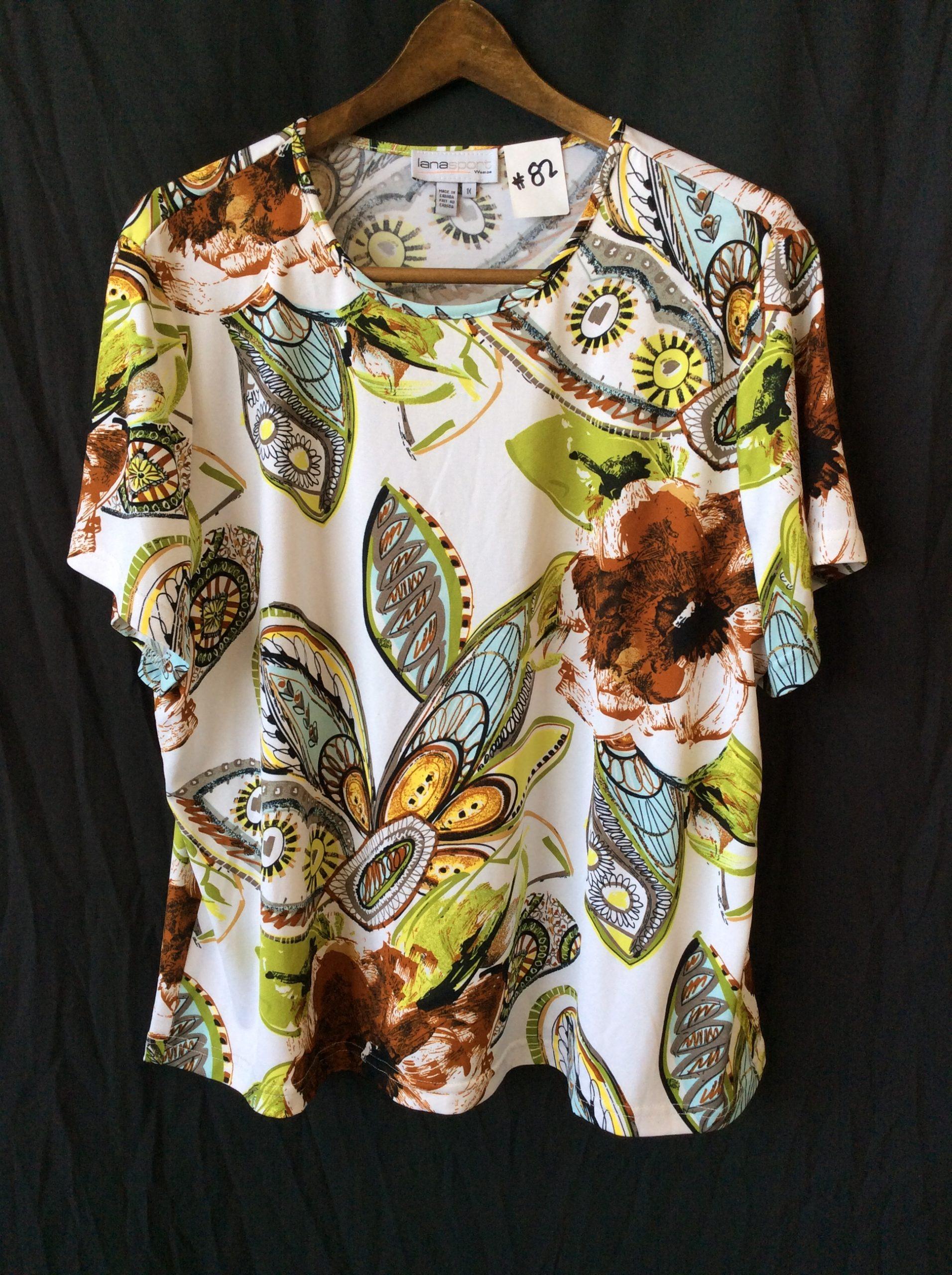 Women's print top, size xl