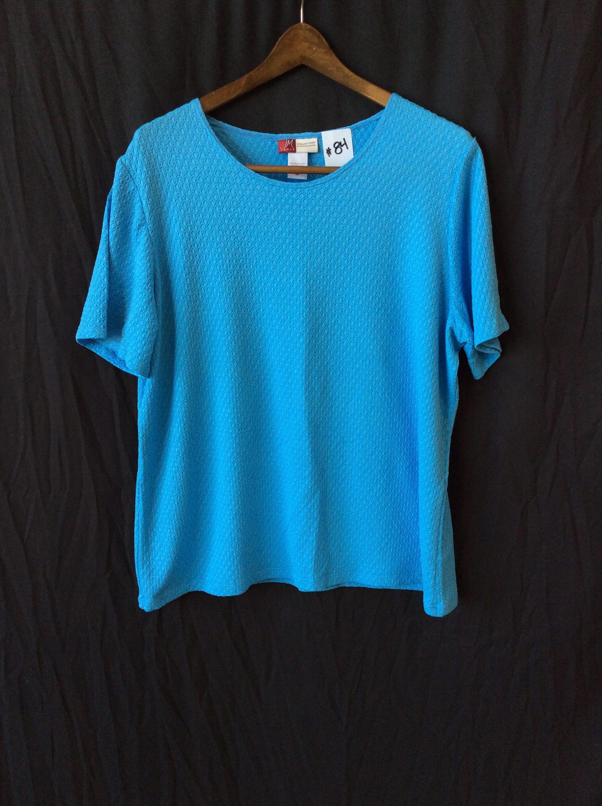Women's blue knit top, size xl