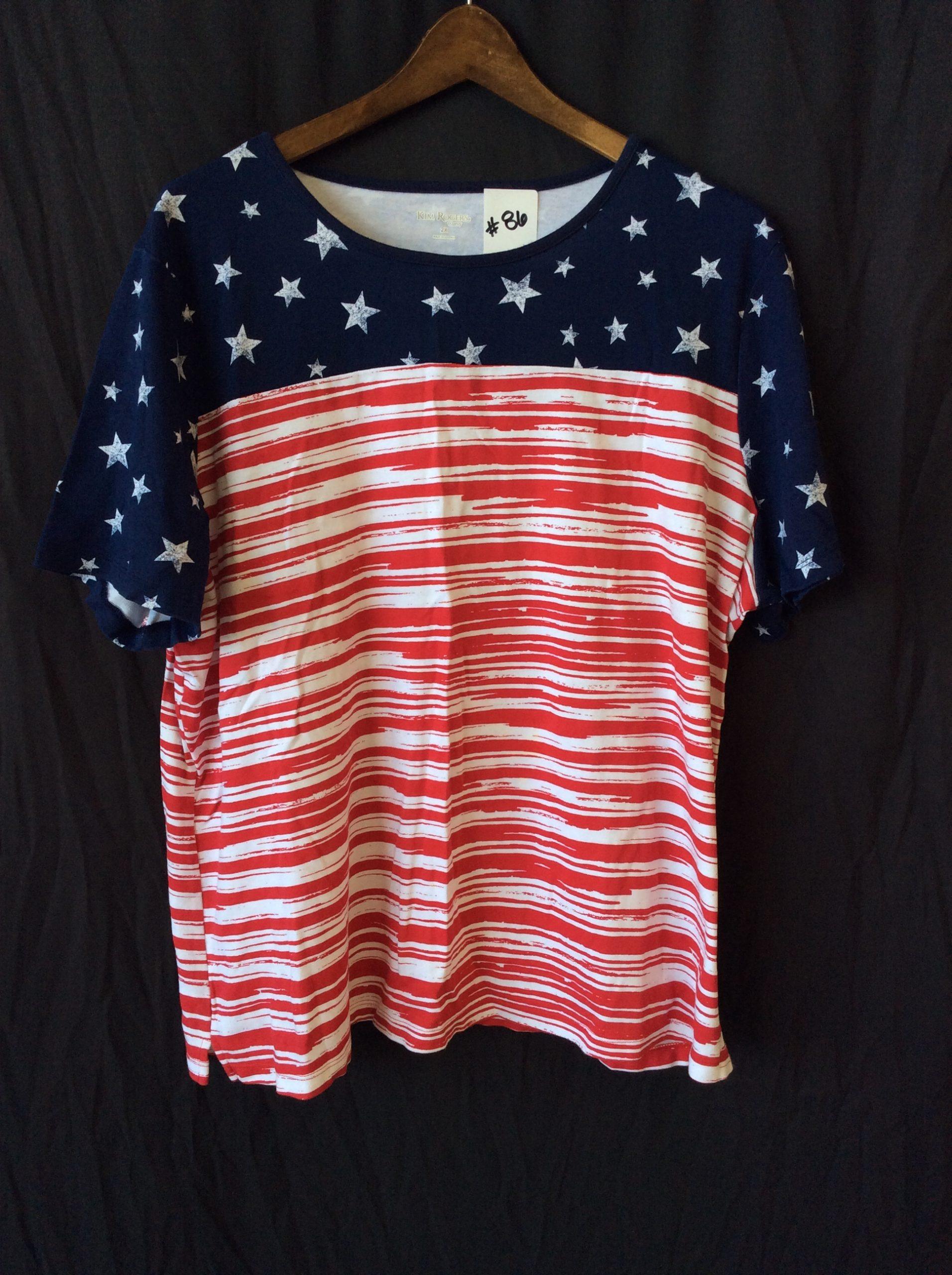Women's stars and stripes tee, size xxl