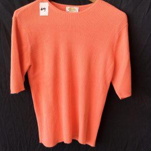 Women's ribbed tangerine top, size medium