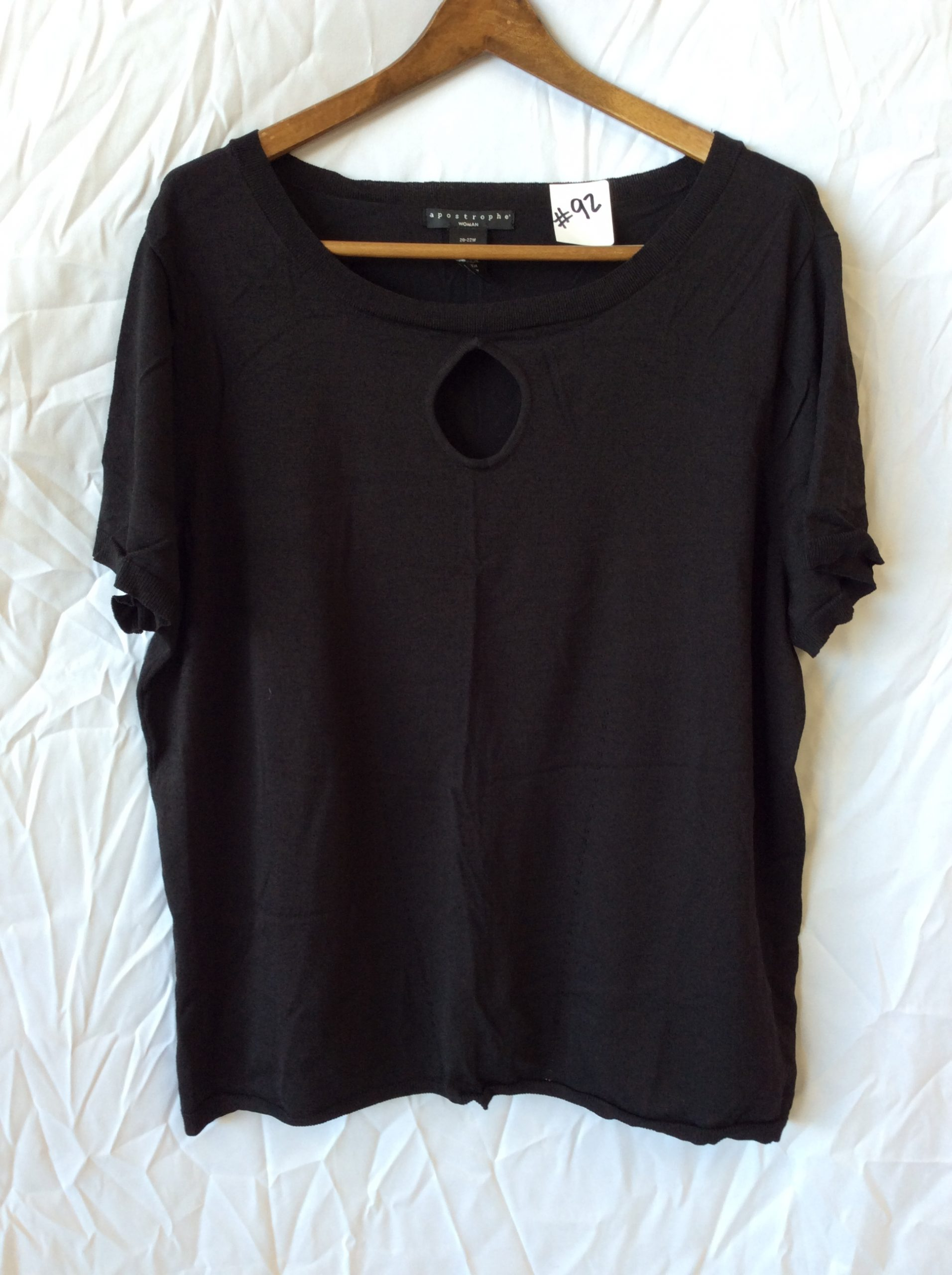 Women's black top, size 20-22