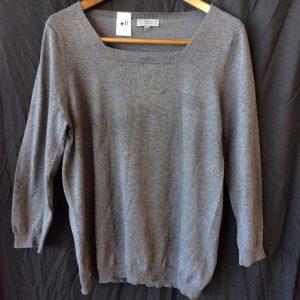 Women's grey light sweater top, size medium