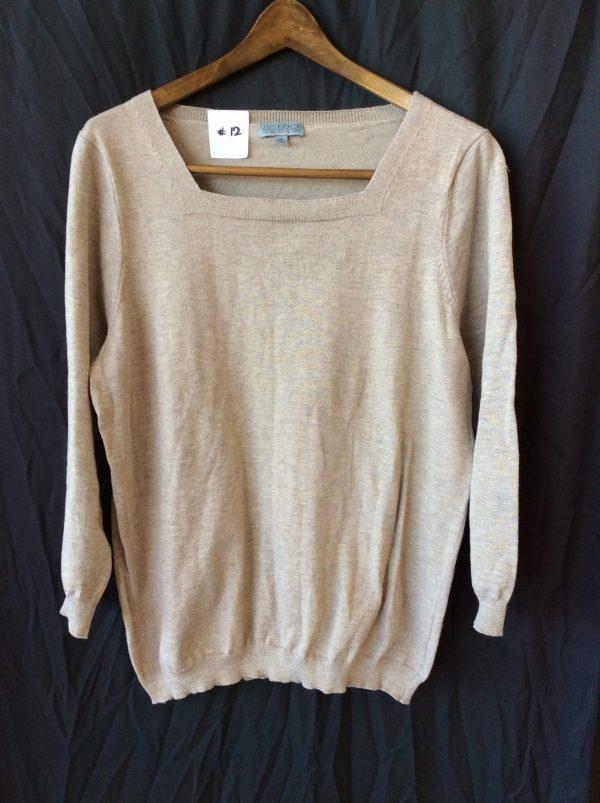 Women's tan light sweater top, size medium