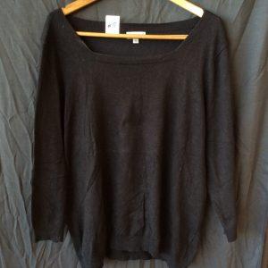 Women's black top, size large