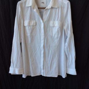 Women's button up white top, size 10