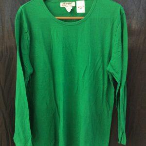 Women's long-sleeved green top, size xl