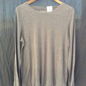 Women's long-sleeved grey top, size xl