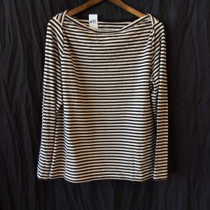 Women's black and white striped top, size xl