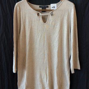 Women's tan long-sleeved shirt, size xl