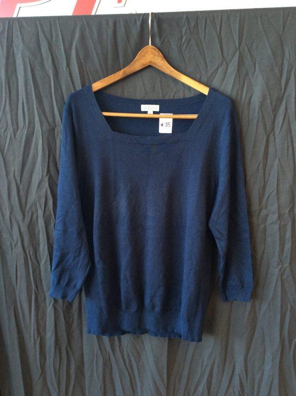 Women's navy blue top, size xl