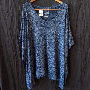 Women's blue/tan top, size xl